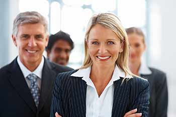 bigstock Cute Business Woman With Group 5213135